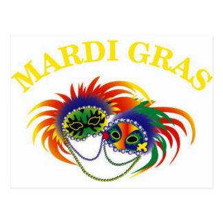 Carte Postale Masque de mardi gras
