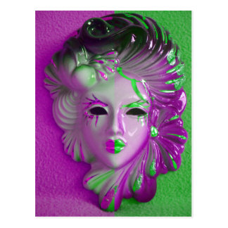 Carte Postale Masque ELF de carnaval de Venise