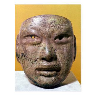 Carte Postale Masque funéraire, Olmec, du Mexique
