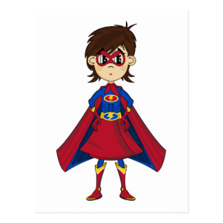Carte postale masquée de fille de super héros