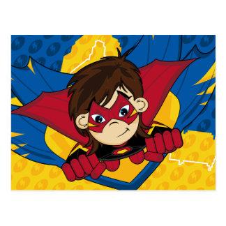 Carte postale masquée de super héros