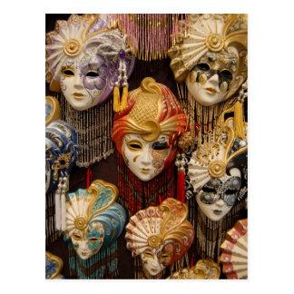 Carte Postale Masques de carnaval à Venise Italie