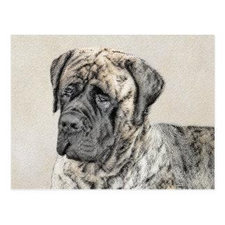 Carte Postale Mastiff anglais (Brindle)