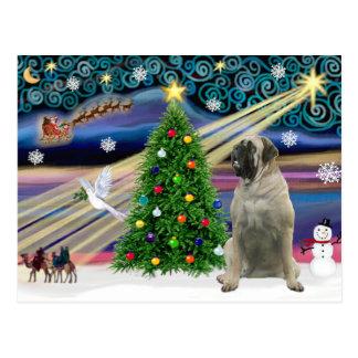 Carte Postale Mastiff de Taureau magique de Noël #11