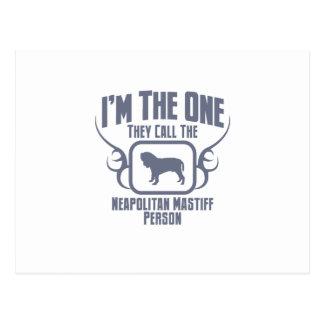 Carte Postale Mastiff napolitain