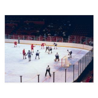 Carte Postale Match vintage de hockey sur glace