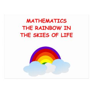 Carte Postale mathématiques