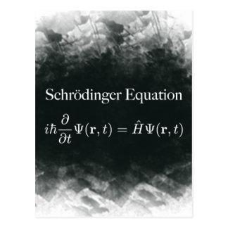 Carte Postale Maths d'équation de Schrödinger et physique de