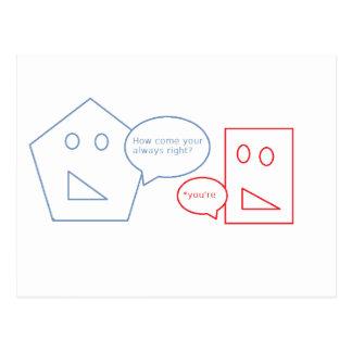 Carte Postale Maths et calembour anglais
