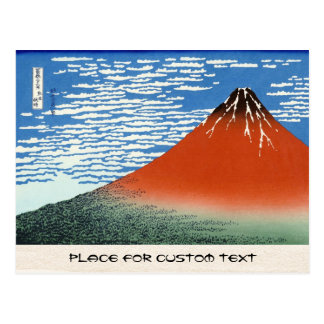 Carte Postale Matin du sud rouge d'espace libre de vent de Fuji