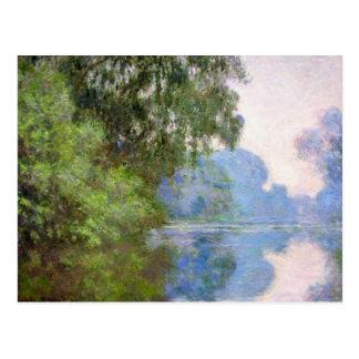 Carte Postale Matin sur la Seine près de Giverny Claude Monet