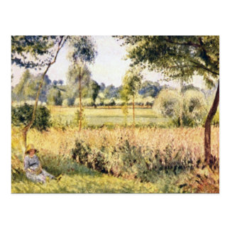 Carte Postale Matin un Eragny par Camille Pissarro