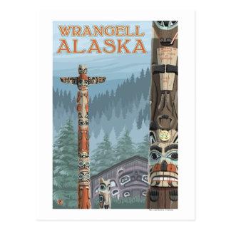 Carte Postale Mâts totémiques de l'Alaska - Wrangell Alaska