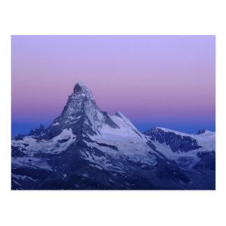 Carte Postale Matterhorn à l'aube, Zermatt, Alpes suisses,