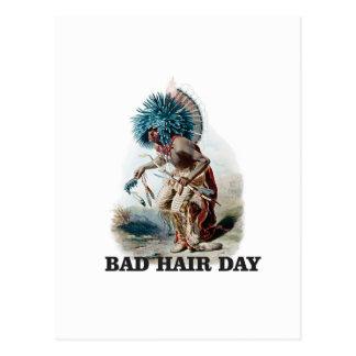 Carte Postale mauvais jour de cheveux