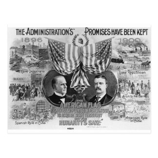 Carte Postale McKinley 1900 - Teddy Roosevelt