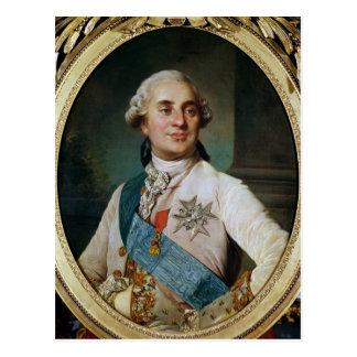 Carte Postale Médaillon de portrait de Louis XVI 1775