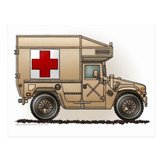 Carte Postale Médecin militaire de Hummer d'ambulance