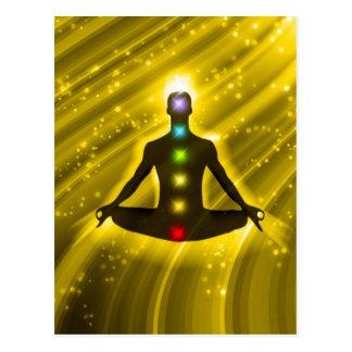 Carte Postale Méditation Chakras
