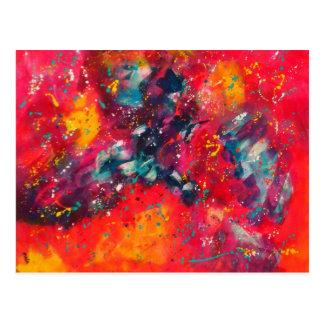 Carte Postale Méditation de couleur