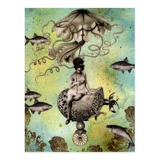 Carte Postale Méduses de Steampunk