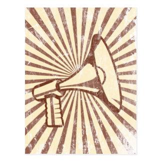 Carte Postale Mégaphone