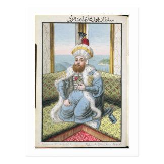 """Carte Postale Mehmed II (1432-81) a appelé """"Fatih"""", le"""