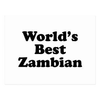Carte Postale Meilleur zambien du monde
