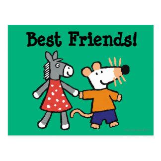 Carte Postale Meilleurs amis Maisy et mains pointillées de prise
