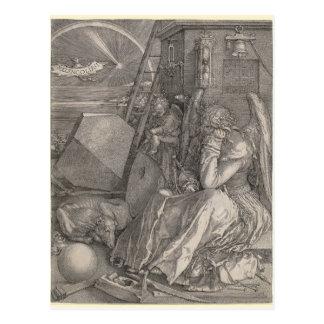 Carte Postale Mélancolie I, gravant par Albrecht Durer