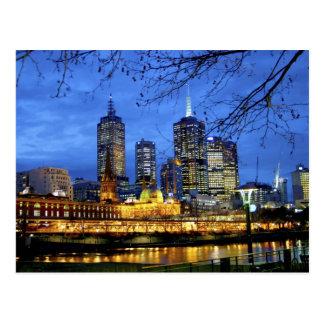 Carte Postale Melbourne, Australie. Une vue de nuit de