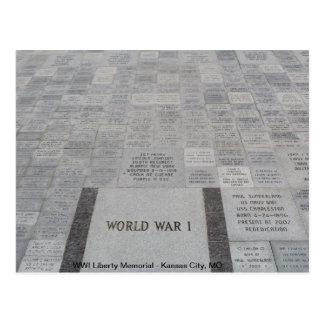 Carte Postale Mémorial de liberté de WWI # 4