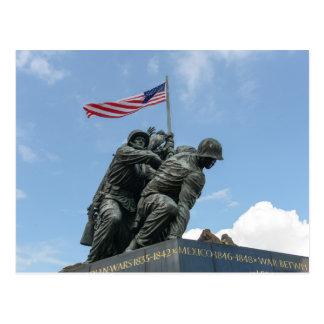 Carte Postale Mémorial d'Iwo Jima dans le Washington DC