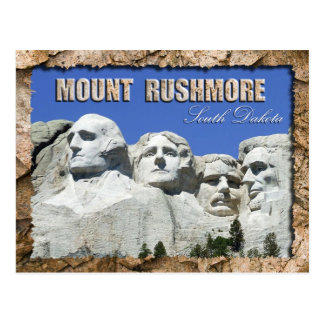 Carte Postale Mémorial national du mont Rushmore, le Dakota du