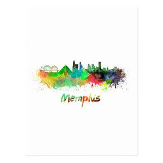Carte Postale Memphis skyline in watercolor