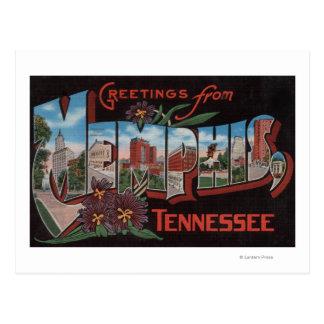 Carte Postale Memphis, Tennessee - grandes scènes de lettre