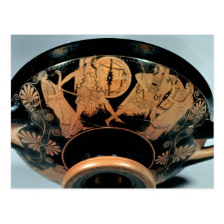 Carte Postale Menelaos, accompagné de l'Aphrodite