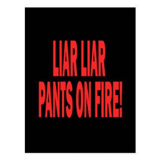 Carte Postale Menteur de menteur