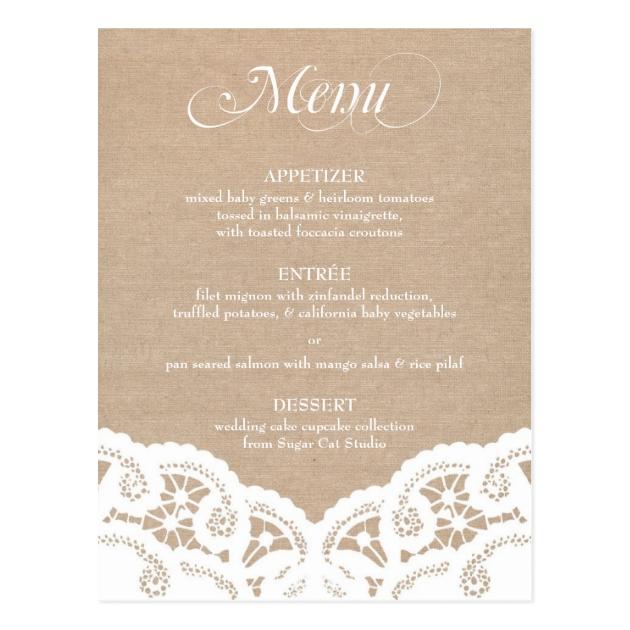 Exceptionnel Menu Mariage Cartes, Invitations, Photocartes et faire-part Menu  YG08