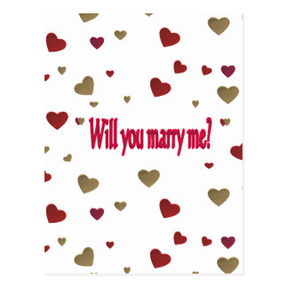 Carte Postale M'épouserez-vous ?
