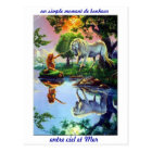 Carte postale mer sirène licorne ombre lumière