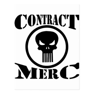 Carte Postale Mercenaire de Merc de contrat
