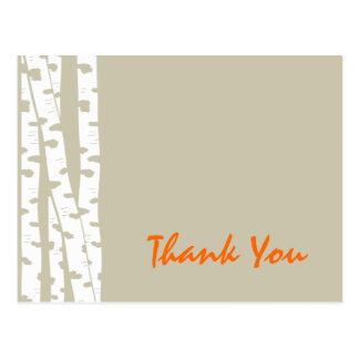 Carte Postale Merci d'arbres de bouleau