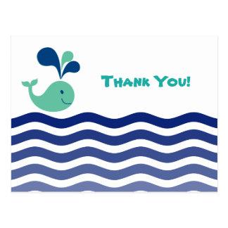 Carte Postale Merci de baleine