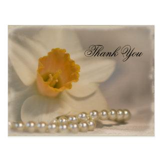 Carte Postale Merci de jonquille et de perles