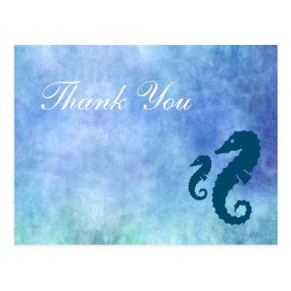 Carte Postale Merci d'hippocampe