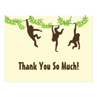 Carte Postale Merci d'Horiz. Hanging Monkey