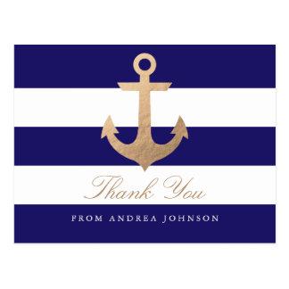 Carte Postale Merci nautique de marine
