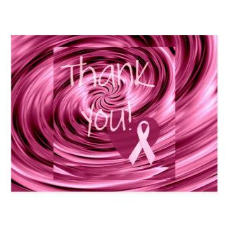Carte Postale Merci rose de cancer du sein de remous