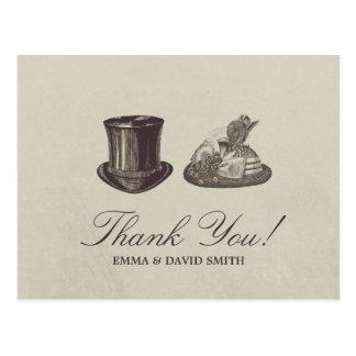 Carte Postale Merci vintage de M. et de Mme Hats Wedding